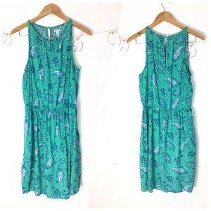 Paisley elastic waist dress L